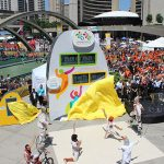 Pan Am Games Clock Opening